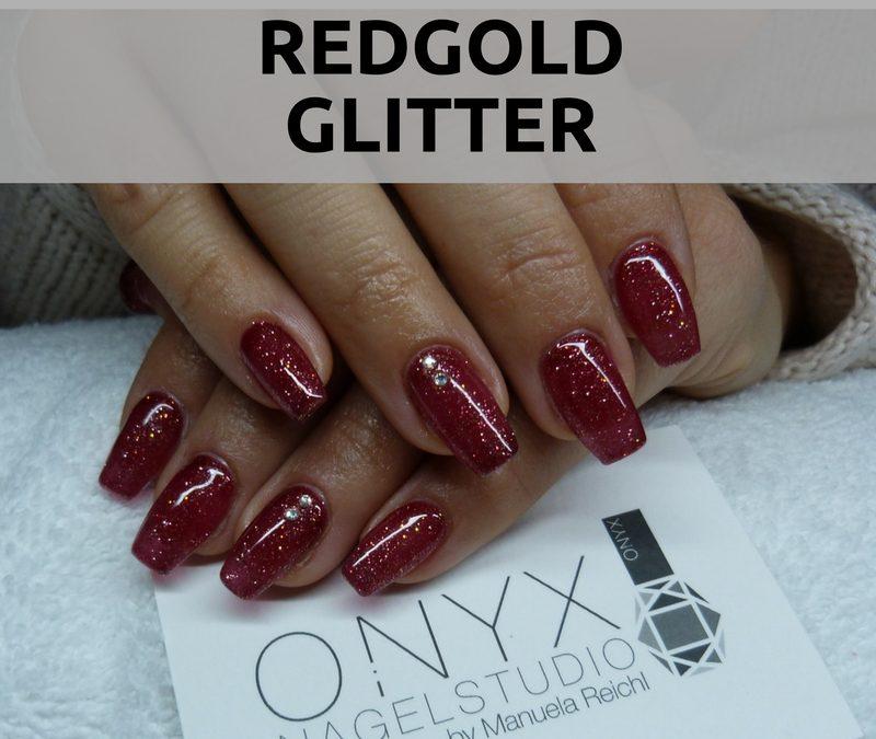 Red Gold Glitter